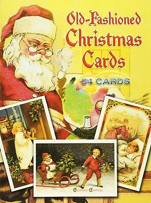 Old fashioned christmas cards vintage greeting postcards lot 24 pack old fashioned christmas cards vintage greeting postcards lot 24 pack new m4hsunfo