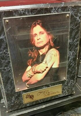 Ozzy Osbourne 1999 Monowise Limited Autographed Photo Plaque