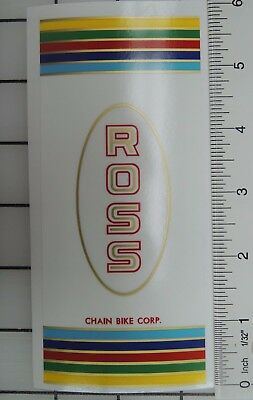 vintage Ross Seatpost Chain Bike Corp decal )
