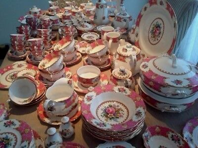 Royal Albert ' Lady Carlyle ' Tea Set & Tableware - English Bone China
