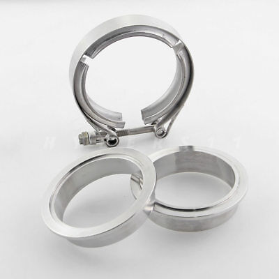 """2.75"""" V-band Clamp Stainless Steel with Male Female Flanges for Exhuast Downpipe"""