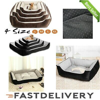 Deluxe Soft Washable Dog Pet Warm Basket Bed Cushion Basket Mat Cushion Kitten