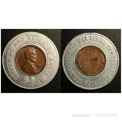 1957-D Encased Lincoln Cent / Rexall Products
