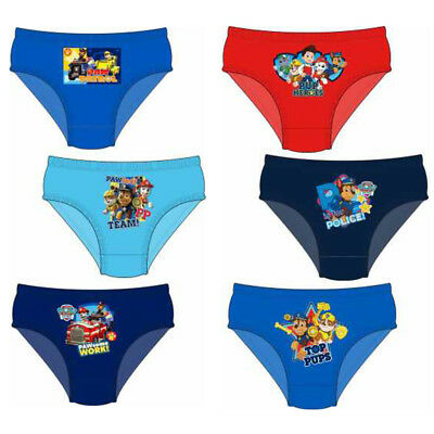 Boys Official Paw Patrol Kids 100% Cotton Character Briefs Knickers Underpants