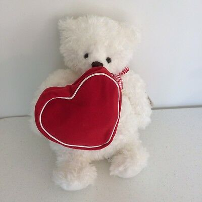 Hallmark 2003 From My Heart Valentine's Day Bear w Zippered Heart NWT