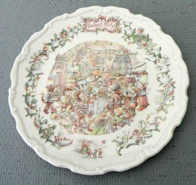 Royal Doulton Christine Thwaites Wind in the Willows Wall Plate Badger's Party