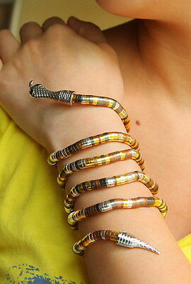 Fashion Flexible Bendy Snake head Necklace Twisty Bracelet Wristband Armlet