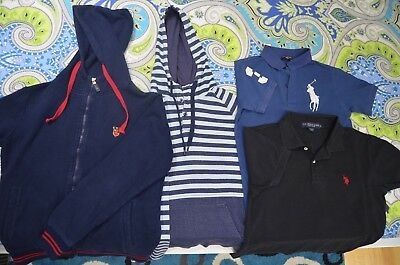 Lot of 4 Men's Ralph Lauren Lee Cooper U.S POLO ASSN Splash /Hoodies & Shirts(S)