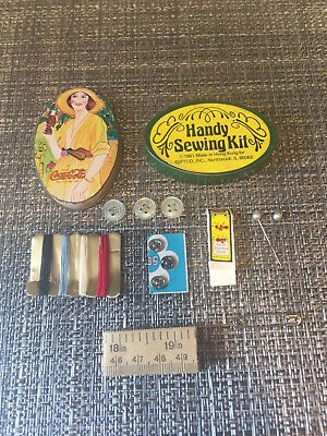 Vintage Coca Cola Tin Sewing Kit - 1981 - Giftco, Inc.