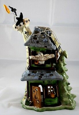 Blue Sky Clayworks Goldminc Halloween Howlin Mansion T Light Haunted House