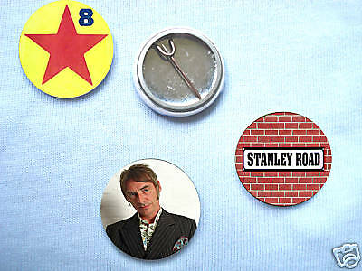 Paul Weller-Stanley Road 3 Badge Set The Jam Oasis Mod