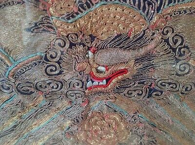 5 framed panels of antique 19th century Chinese embroidered silk jacket