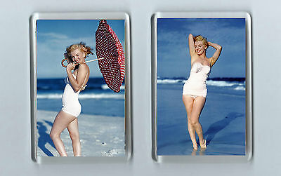 Magnets x 2 : MARILYN MONROE actress fifties