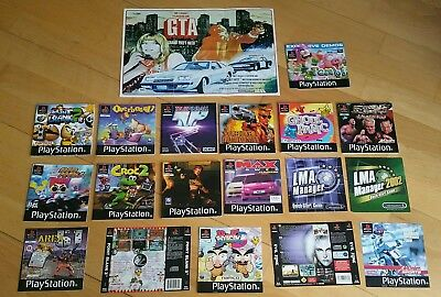 PS1 MANUALS  plus some inlays