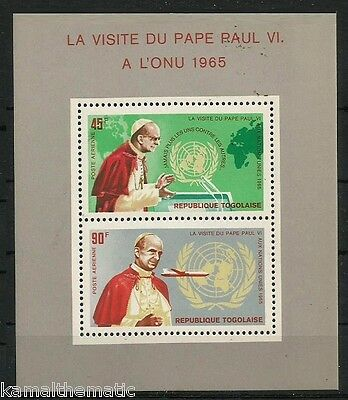 Togo MNH SS, Famous people, Pope, Religion