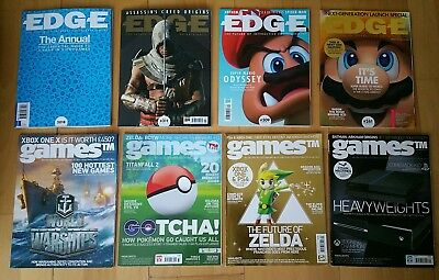 EDGE / GAMES Magazines Bundle COLLECTERS editions