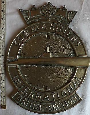 Military Brass Submariners International British Section Regimental Plaque (2186
