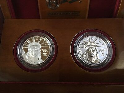 2007 American Eagle 10th Anniversary Platinum set