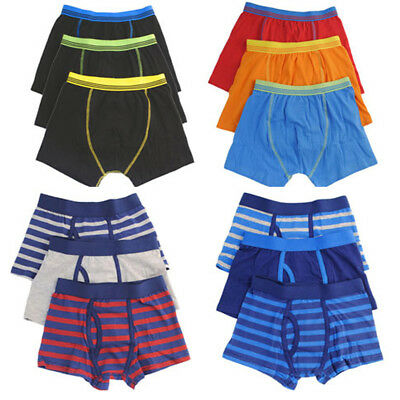 Kids Boys Cotton Elasticated Waist Underwear Trunks Boxer Shorts Pant 2-13 Years