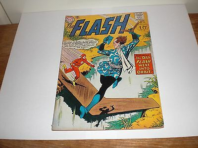 The Flash issue 148 1964 silver age comic The Day Flash Went Into Orbit. U.K 10d