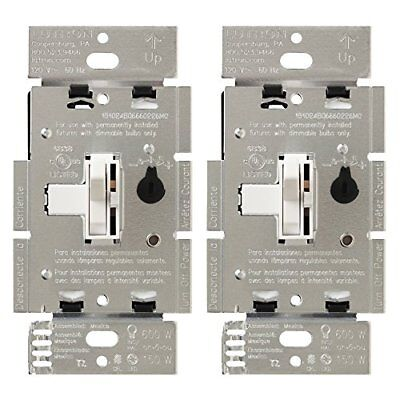 Lutron Toggler C.L Dimmer, Single-Pole/3-Way Cfl-Led, Ul Listed Discreet Slide