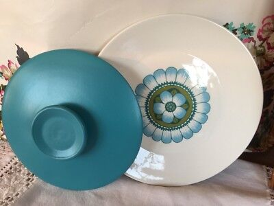 "Vintage J & G MEAKIN-Studio ~*Capri*~1 LUNCH PLATE-9"" & LID FOR TUREEN- 1960/70s"
