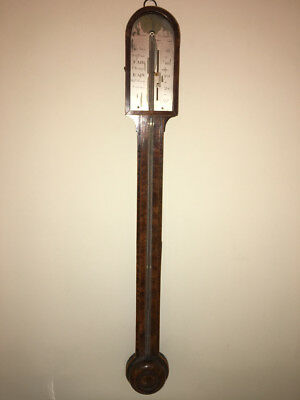 "Antique Signed ""J. Pochaine of Newcastle"" Georgian Era Stick Barometer, ca 1800"
