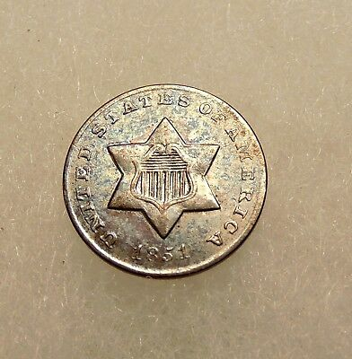 1851-O Three Cents Silver - Better Date - Sharp looking Coin