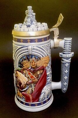 Vtg Beer Stein Avon Knights Of The Realm Lidded Stein #99790 King Arthur 1995