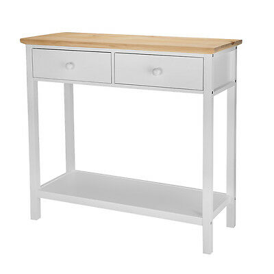 Console Table Stunning Kitchen Hall Table 2 Drawers + Bottom Shelf Furniture UK