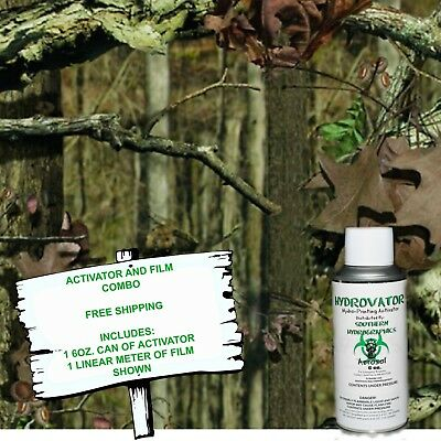 Hydrographic Film Water Transfer Hydro Dip 6Oz. Activator & Fall Camo Dip Kit