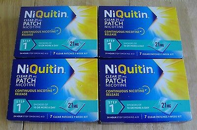 Niquitin 21 Mg Clear Step 1 24 Hour Patches 28 Days 4 Weeks Supply Exp 02/19
