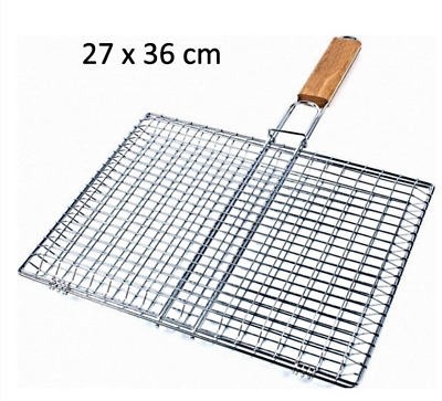 GRILLE A BARBECUE RECTANGULAIRE 27 X 36 CM   Double grille