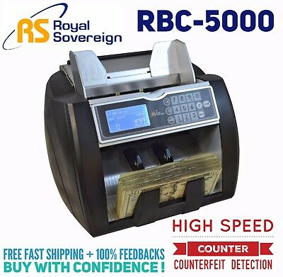 New Royal Sovereign RBC-5000 High Speed Bill Counter with Counterfeit Detection