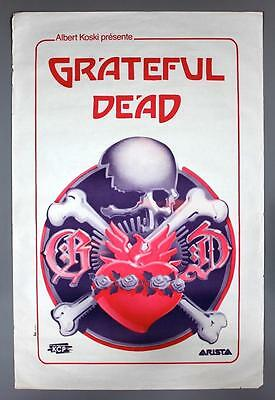 GRATEFUL DEAD - mega rare original Paris 1981 billboard concert poster