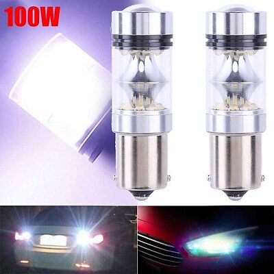 2x NEW XBD 100W 1156 S25 P21W BA15S LED Backup Light Car Reverse Bulb Lamp White