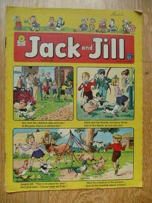 Collectible Vintage Jack and Jill Comic By Fleetway - 2nd May 1964 - Maypole