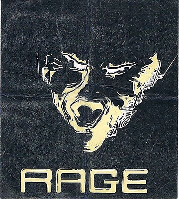 RAGE Rave Flyer Flyers A5 15/2/90 Heaven London WC2 Rare Complimentary Pass