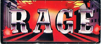 RAGE Rave Flyer Flyers A6 2/11/88 Heaven London WC2 Extremely Rare