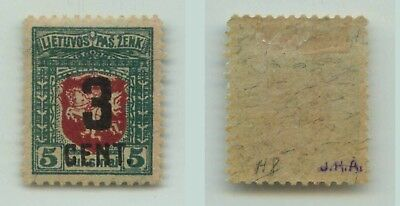 Lithuania  1922  SC  122  mint, signed. f2567