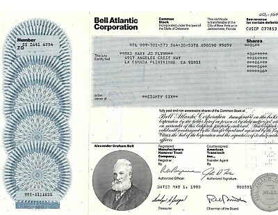 Bell Atlantic Stock Certificate