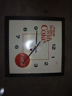 Vintage Working Coca Cola Wall Clock Things Go Better With Coke Advertising Disp