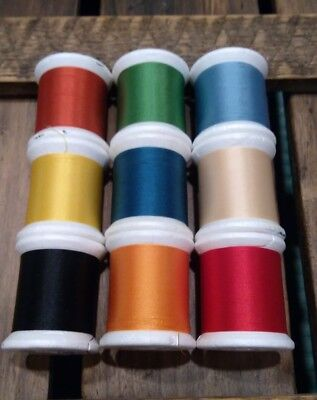 Gudebrod Nylon Rod Winding Thread Size A 100 Yards Choose Color