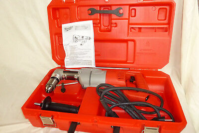 """Milwaukee 1107-1 1/2"""" Electric Corded Heavy Duty Right Angle Drill with Case"""