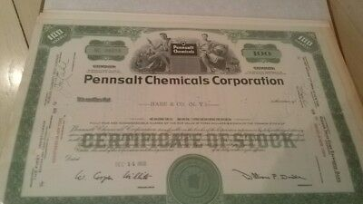 Pennsalt Chemicals Corporation PA 1959Stock Certificate
