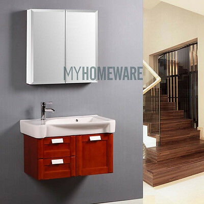 600 x 720x150mm Bevel Edge Mirror Cabinet Bathroom Vanity Shaving Medicine White