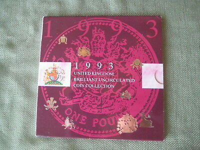 UK 1993 Brilliant Uncirculated Coin Collection in presentation folder