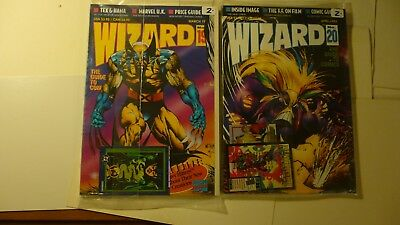 Wizard The Guide To Comics  Number 19 & 20 April 1993 Factory Sealed