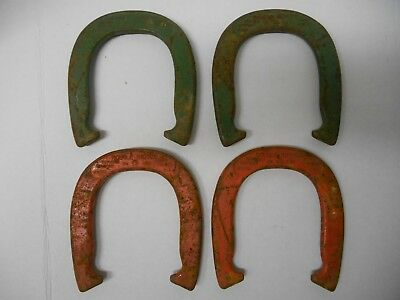 set 4 Vintage Double Ringer Official Diamond Drop Forged 2 1/2 Pound Horseshoes