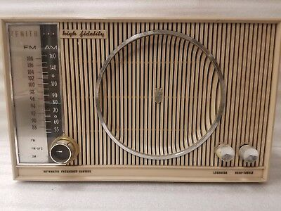 Vintage 1950's Zenith High Fidelity AM/FM/FMC Tube Radio S-46351 Working